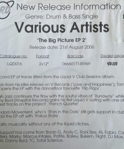 The Big Picture Album EP Part Two - Various (Promo)