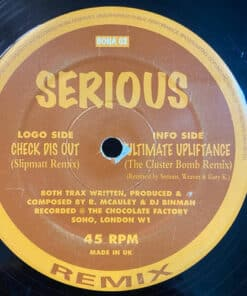 Check Dis Out / Ultimate Upliftance (Rmxs) - Serious
